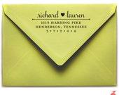Samantha Return Address Stamp (Wooden Handle)