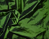 Silk Taffeta in Olive green with black shimmers - fat quarter - TF 69