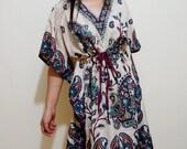 The Classic Paisley Mini Boho Kaftan Dress