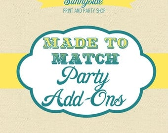 Made to Match - Sunnyside Party Printable Add-Ons