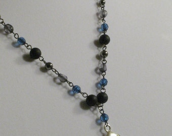 Gas Mask necklace in Blue