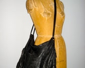 RESERVED for  ALICIA Do NOT Buy /Womens Vintage Large Brio Black Leather Hobo Handbag Purse Laptop Overnight Bag