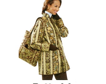 Reversible Jacket Pattern Uncut Bust 31 to 36 Butterick B5532 Shoulder Bag Purse Tote Vest Nehru Collar Fall Jackets Womens Sewing Patterns