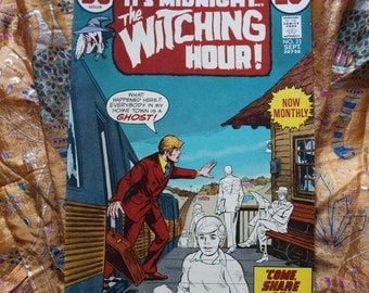 Witching Hour No 23 DC Comics 1972 Horror Witches Eerie Witch Strange Unnatural Supernatural  Sci Fi Ghosts Blood Curdling Walking Dead