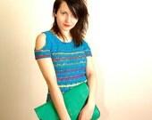 PDF Crochet Pattern - Prism Top crochet pattern- Womens Girls Summer bare shoulder Crochet Top Sweater Pattern