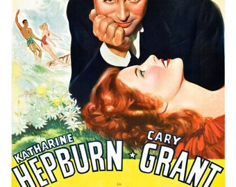 """Holiday - Katherine Hepburn Cary Grant - Movie Romance Poster Prin - 13""""x19"""" or 24""""x36"""" - Large Movie Poster - Home Theater Media Room decor"""