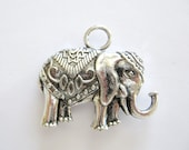 1 Large Elephant Pendant or Charm for your Creations