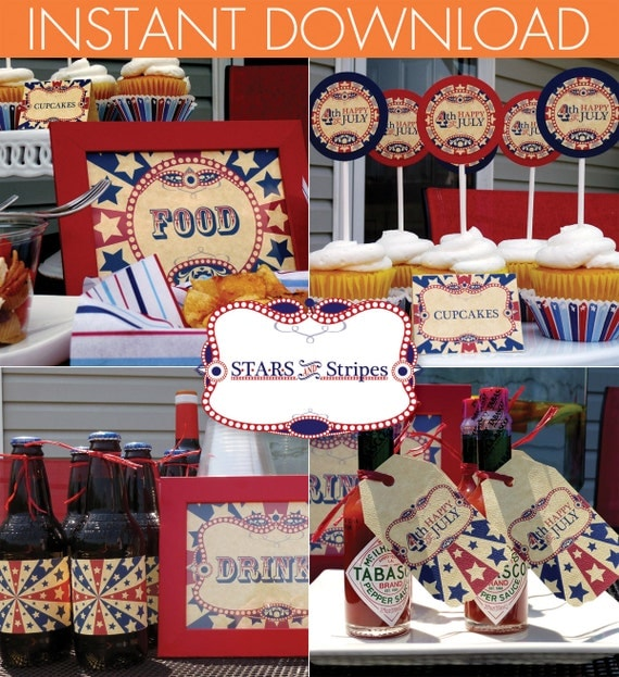 4th of July Printable Party - Instant Download