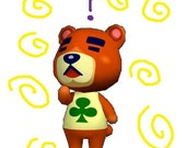 Animal Crossing Mystery Bear Plushie (Pocket Size)