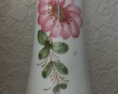 Vase, Bud Vase, Victorian Vase, Vintage Victorian Vase, Bud Vase, Vase, Bud Vase, FTD,  Orange, Brown, Vase 1960's FTD, Porcelain Vase