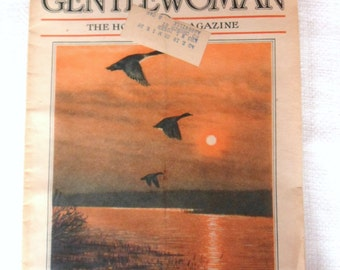 The Gentlewoman Magazine, November 1935, Migrating Geese