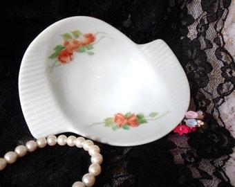 Cora Porcelain Ashtray from Bavaria, W. Germany, German Ashtray with Roses