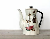 Vintage mid century coffee pot / retro kitchen / retro home decor / watermelon / melon / kitsch decor / tea time / home decor / collectible