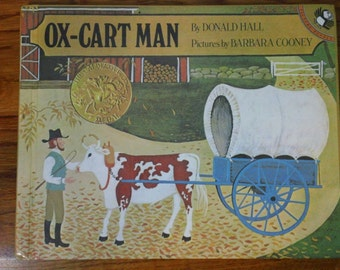 Ox-Cart Man by Donald Hull ~ pictures by Barbara Cooney - vintage 1983 hardcover children's book