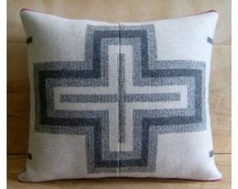 SALE Wool Cross Pillow - Native Geometric Cross San Miguel