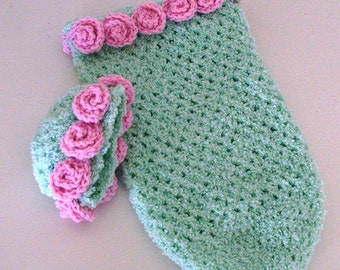 Preemy Papoose and Cap with Pink Roses
