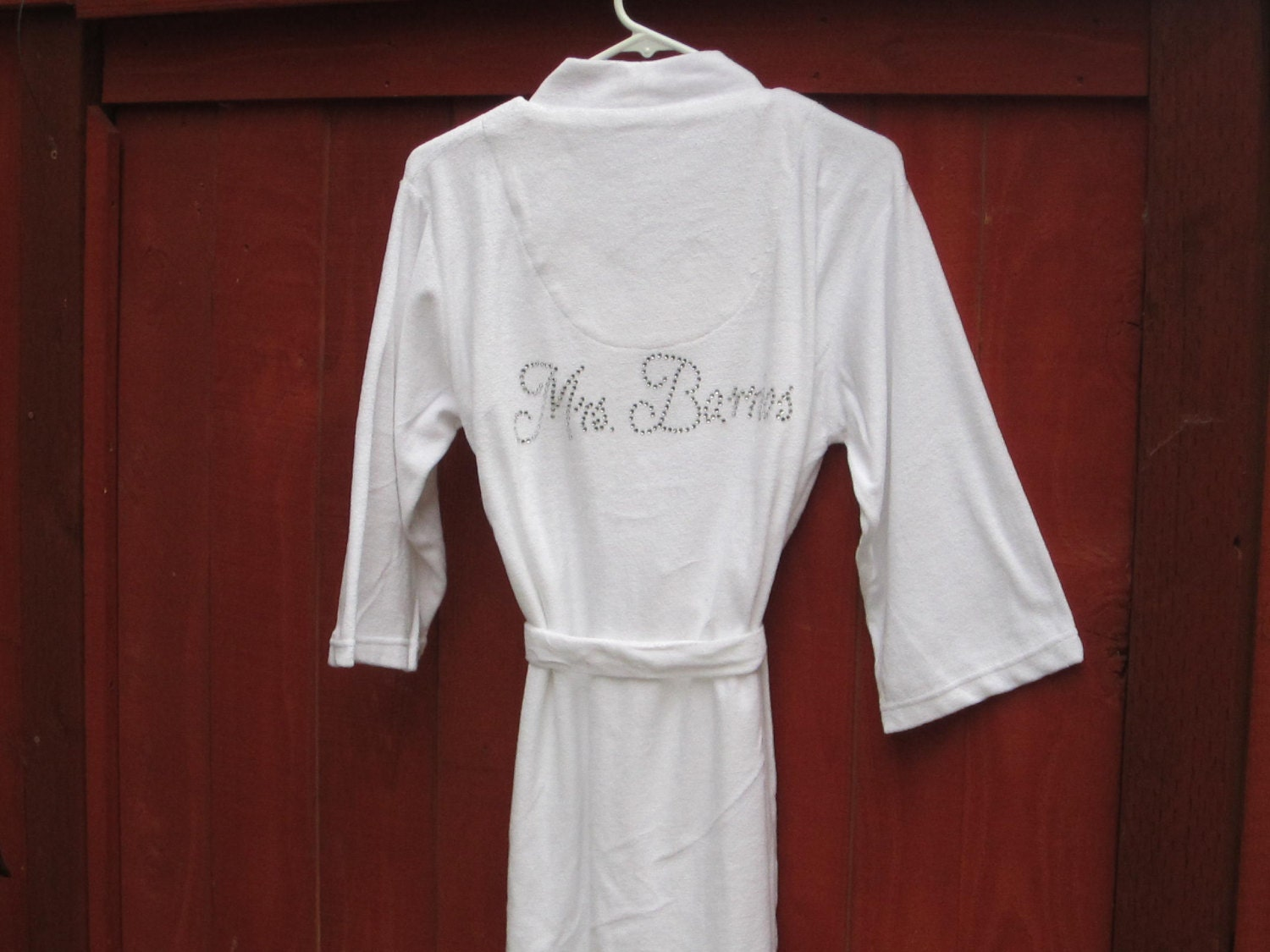 Personalized Monogram Bride Robe Womens Bridal Party Robes