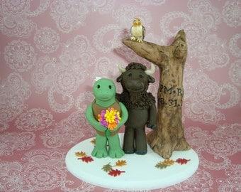 Buffalo & Turtle Outdoor Wedding Cake Topper