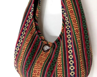 Handmade Woven Bag Handbags Purse Tote Thai Cotton Bag Hippie