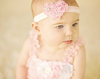 Heart Headband Valentines Headband Shabby Baby Headband baby bow newborn headband toddler headband