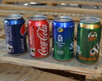 The Jam Can Portable Guitar Amplifier: Recycled Sprite Can