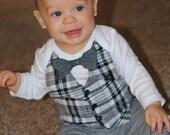 Baby Onesie with Vest & Bowtie