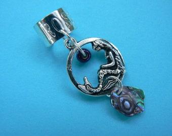 mermaid ear cuff abalone ear cuff cosplay jewelry mermaid  siren abalone in boho gypsy hippie hipster  beach  resort and fantasy style