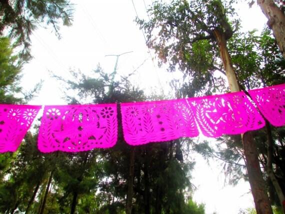 Mexican Banner Aztec Home Decor Tribal Papel Picado Banner Spring