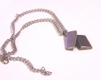 Metal Stainless Steel Necklace wih Pendant from Upcycled Metal