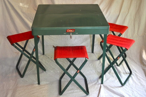Coleman Folding Metal Camp Picnic Table Amp Stools 5201
