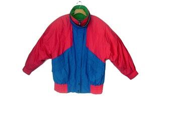 Women's Vintage 80s Colorblock Down Ski Jacket by London Fog