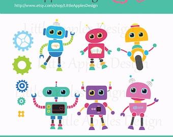 Robot Clip Art / Robot Clipart / Robot Digital Images / Commercial & Personal