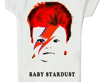 Baby Stardust - Funny David Bowie Shirt for Babies