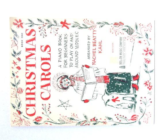 Christmas Piano Book, Christmas Carols Music Book, 1950's Christmas ...