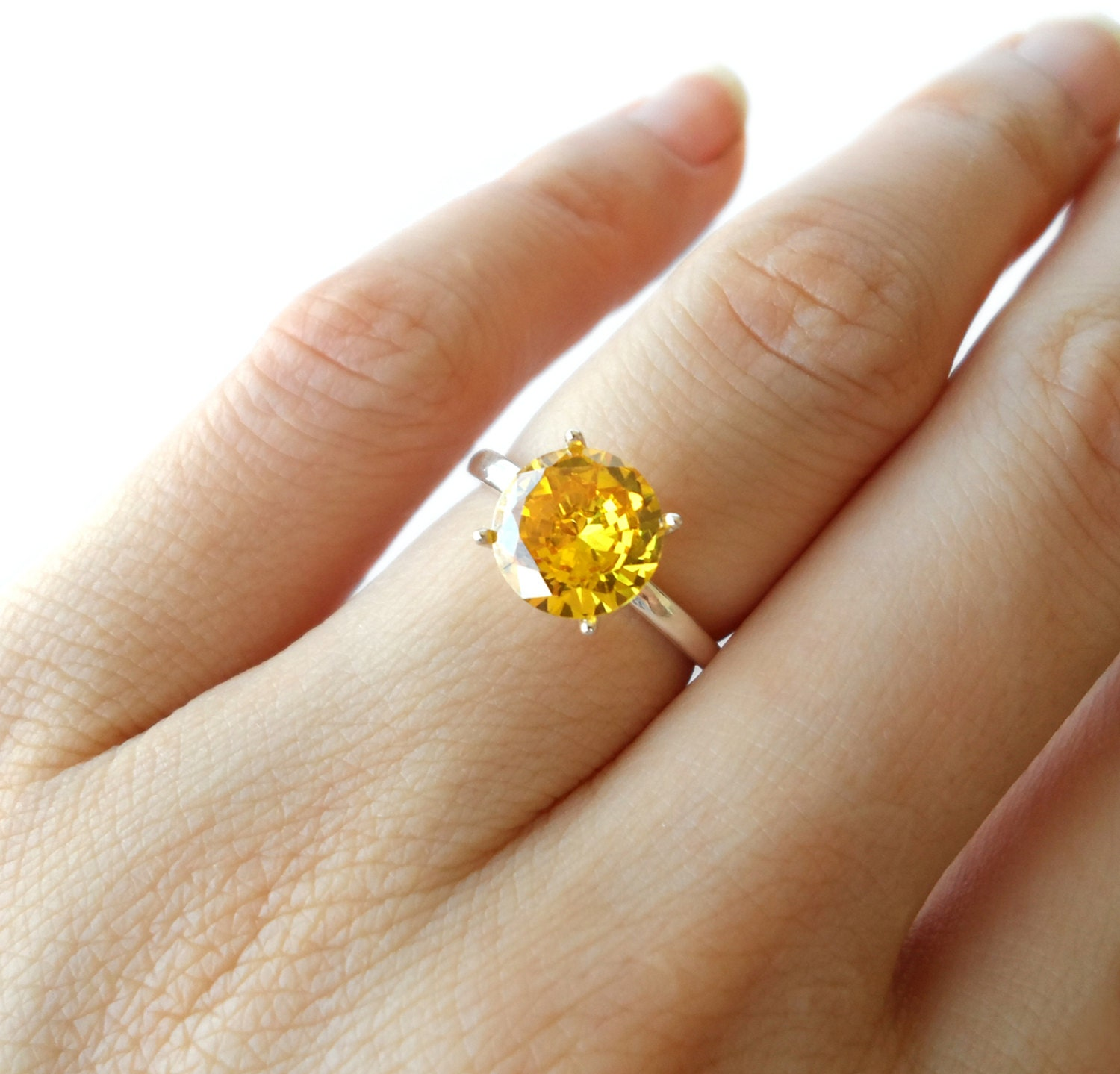 2 carat solitaire engagement ring canary yellow by. Black Bedroom Furniture Sets. Home Design Ideas