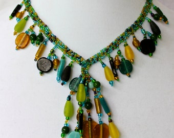 Colorful Beaded Bohemian Necklace
