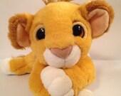 Vintage Lion King Simba Plush HTF