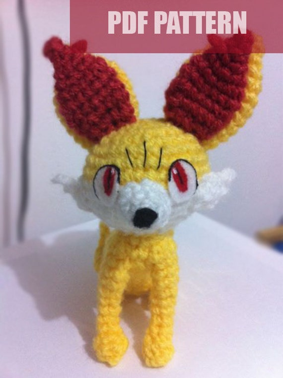 PDF CROCHET PATTERN Pokemon Fennekin Fox Amigurumi