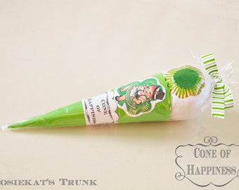"Surprise Ball Irish Dance Gift Vintage ""Cone of Happiness"" Party Favor Vintage Treat"