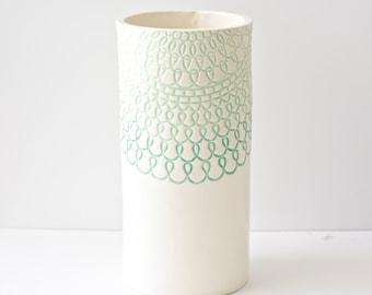 Mint Green Vase, handmade
