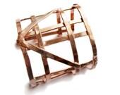 Geometric Jewelry - Half Automaton Copper Cuff - Art Deco Revival - Cage Bracelet - Solid Copper- handmade in Austin, Tx