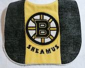 Boston Bruins themed bib