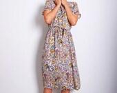 VTG 80s Violin Expressionism Dress