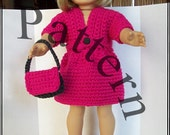 Crochet Pattern: Sweater and Skirt Set for American Girl and similar 18 inch dolls