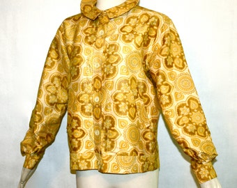 PIERRE CARDIN Haute Couture Numbered Vintage Raw Silk Blouse Mod Jacket - AUTHENTIC -
