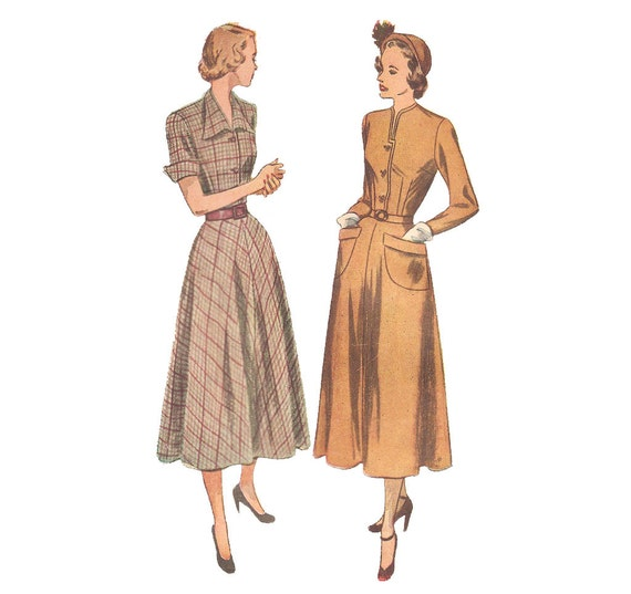 1940s Womens Dress - Simplicity 2617 Vintage Sewing Pattern - 32 Bust