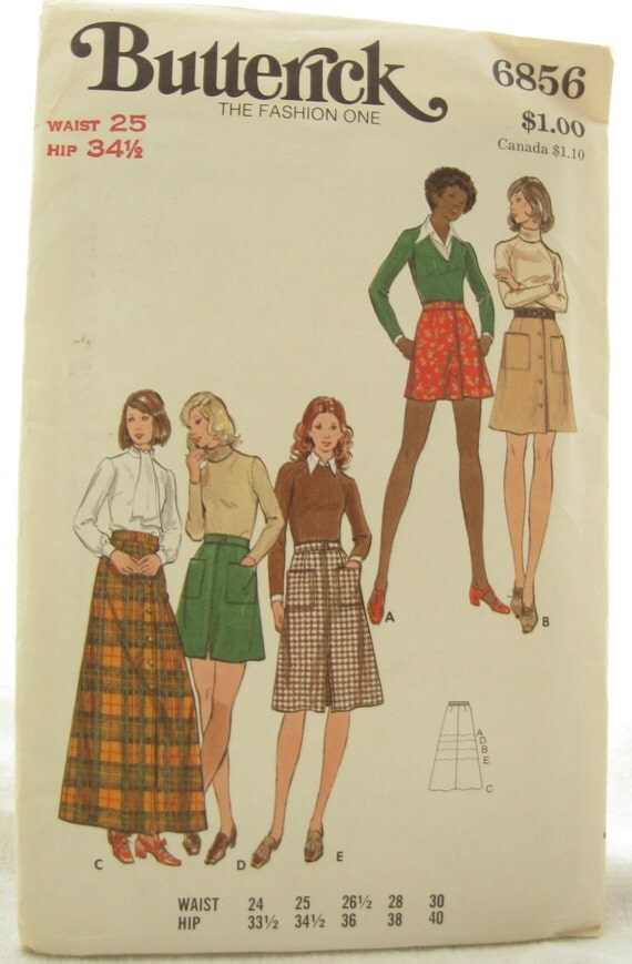 butterick 6856 a line skirt pattern with pockets by emsewcrazy