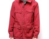 Men's vintage RAIN Parka pacific northwest REI style coat jacket with FLANNEL lining