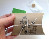 Bridal Shower Favors. Unique Heart Seed Favors. Set of 10. Ready to Ship. Let Love Grow.