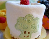 Little Sprout Appliqued Onesie..Baby Broccoli..100% Organic Cotton..Onesie Cupcake Baby Gift..Premium Onesie..My Little Sprout..Adorable  :)